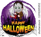 happy halloween  design... | Shutterstock .eps vector #1193205352