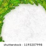 christmas tree branches frame...   Shutterstock .eps vector #1193207998