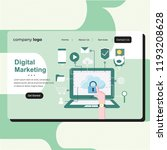 web page design templates for... | Shutterstock .eps vector #1193208628