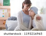 smiling caregiver supporting... | Shutterstock . vector #1193216965