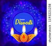 diwali indian traditional  lamp ... | Shutterstock .eps vector #1193221258