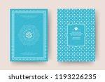 christmas greeting card design... | Shutterstock .eps vector #1193226235