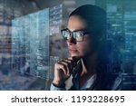 a business woman in his office... | Shutterstock . vector #1193228695