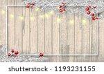merry christmas banner. wooden... | Shutterstock .eps vector #1193231155