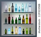 set of colored glass and... | Shutterstock .eps vector #119323588