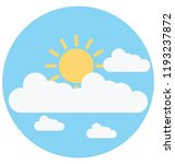 cloudy day illustration color... | Shutterstock .eps vector #1193237872