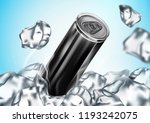 canned drink in metal with ice... | Shutterstock .eps vector #1193242075