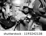 car engine intake side receiver ... | Shutterstock . vector #1193242138