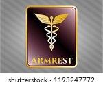 golden badge with caduceus... | Shutterstock .eps vector #1193247772