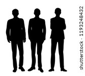 silhouette of people | Shutterstock .eps vector #1193248432