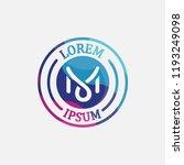 circle badge colorful logo... | Shutterstock .eps vector #1193249098