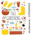 set of the gardening equipment... | Shutterstock .eps vector #1193249422