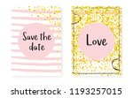 bridal shower card with dots... | Shutterstock .eps vector #1193257015