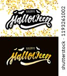 happy halloween lettering... | Shutterstock .eps vector #1193261002