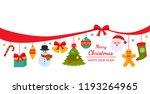 christmas poster or packaging.... | Shutterstock .eps vector #1193264965