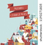 cute merry christmas greeting... | Shutterstock .eps vector #1193271835