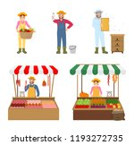 sellers and farmers isolated... | Shutterstock .eps vector #1193272735