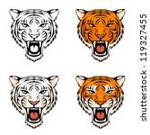 line illustration of a roaring...   Shutterstock .eps vector #119327455