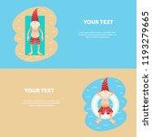 set of conceptual summer... | Shutterstock .eps vector #1193279665
