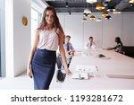 portrait of businesswoman... | Shutterstock . vector #1193281672