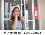 asian women travel shopping... | Shutterstock . vector #1193282815
