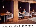 casually dressed businessmen... | Shutterstock . vector #1193282998