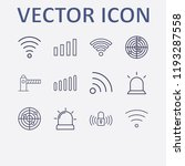 outline 12 signal icon set. wi... | Shutterstock .eps vector #1193287558