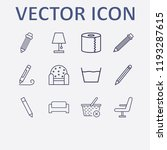 outline 12 simple icon set.... | Shutterstock .eps vector #1193287615