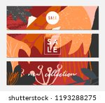 autumn sale banner design.... | Shutterstock .eps vector #1193288275