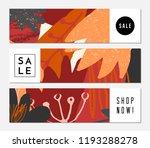 autumn sale banner design.... | Shutterstock .eps vector #1193288278