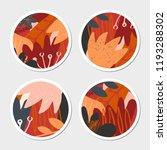 four autumn design round... | Shutterstock .eps vector #1193288302