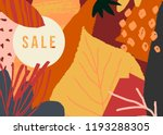 autumn design with abstract... | Shutterstock .eps vector #1193288305