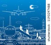 airport illustration....   Shutterstock .eps vector #1193297488