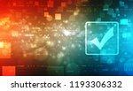 check mark symbol in digital... | Shutterstock . vector #1193306332