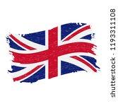 flag of united kingdom  grunge...   Shutterstock .eps vector #1193311108