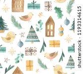 watercolor seamless pattern... | Shutterstock . vector #1193314615