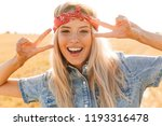 beautiful young blonde girl in... | Shutterstock . vector #1193316478