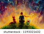 original oil painting little...   Shutterstock . vector #1193321632