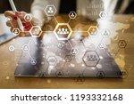 organisation structure chart ... | Shutterstock . vector #1193332168