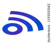 sign wifi icon. isometric of...