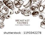 horizontal breakfast pastries... | Shutterstock .eps vector #1193342278