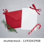 christmas letter decorated with ... | Shutterstock . vector #1193342908