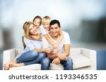 beautiful smiling lovely family ... | Shutterstock . vector #1193346535