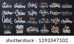 merry christmas lettering... | Shutterstock .eps vector #1193347102