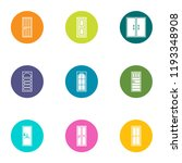 door aperture icons set. flat... | Shutterstock .eps vector #1193348908