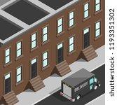 isometric city map navigation... | Shutterstock .eps vector #1193351302
