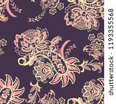 paisley ethnic seamless pattern ... | Shutterstock .eps vector #1193355568
