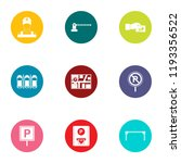 parking facilities icons set....   Shutterstock .eps vector #1193356522