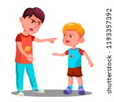angry little children argue in... | Shutterstock .eps vector #1193357392