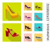 isolated object of footwear and ... | Shutterstock .eps vector #1193358532